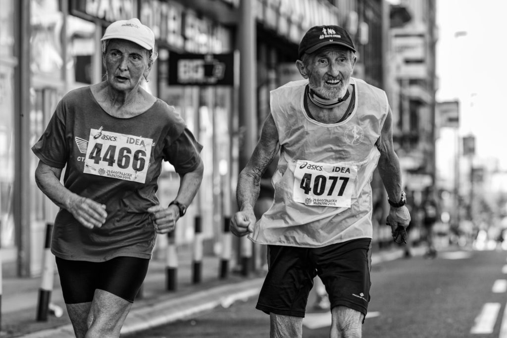 One of the oldest runners - 82 years and still young by heart.